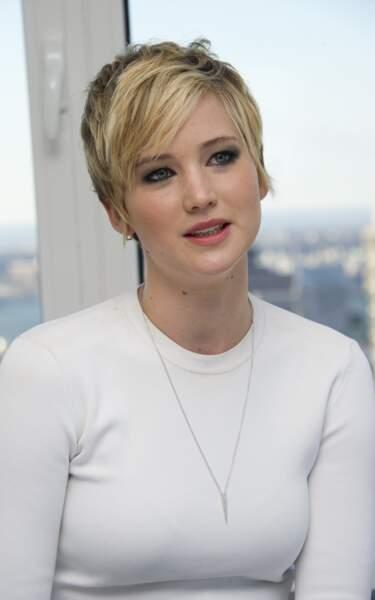 La coupe boyish effilée de Jennifer Lawrence