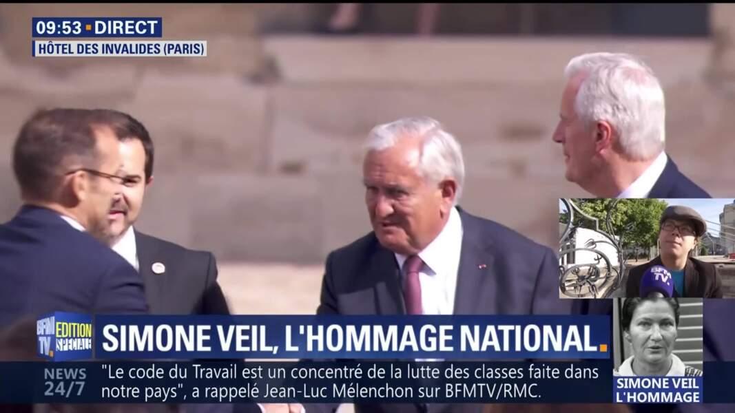 Obsèques de Simone Veil : Jean-Pierre Raffarin