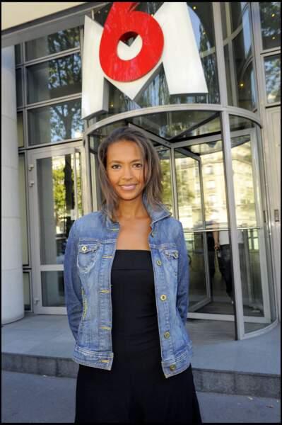 Karine Le Marchand, lors de la conférence de presse de M6 pour la rentrée 2009