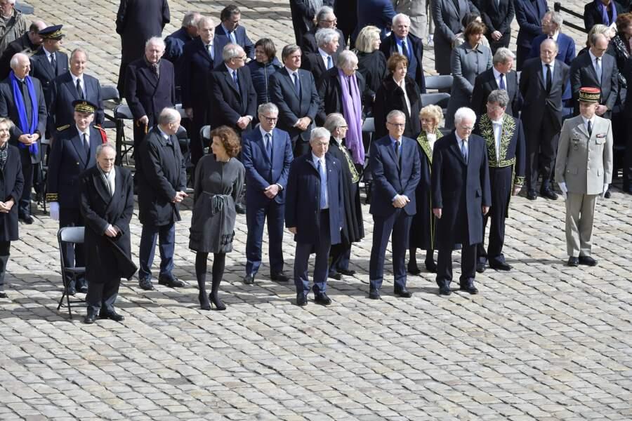 Hommage national à Alain Decaux, aux Invalides, le 4 avril 2016
