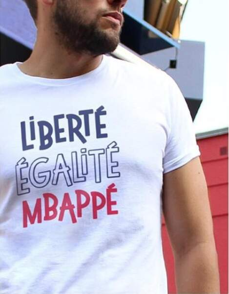 T-shirt Liberté, Egalité, Mbappé sur monsieurtshirt.com
