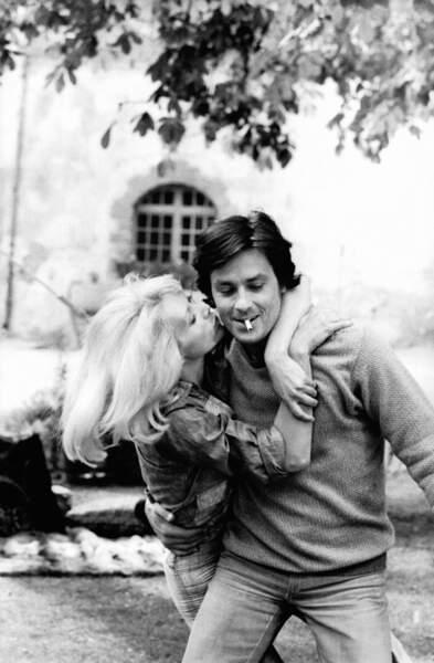 Alain Delon et Mireille Darc 1970