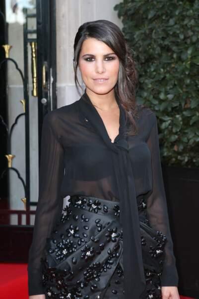 """Karine Ferri lors de la 4e édition du """"Global Gift Gala"""" au George V à Paris en 2013"""