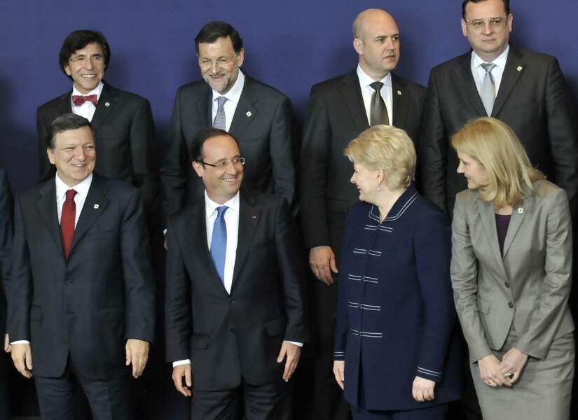François Hollande à Bruxelles lors d'un sommet des leaders européens en 2012