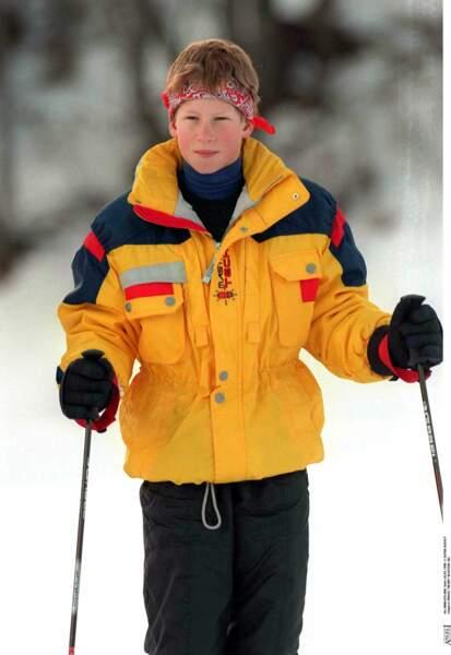 Le prince Harry lors d'un séjour au ski à Klosters en Suisse, en 1998