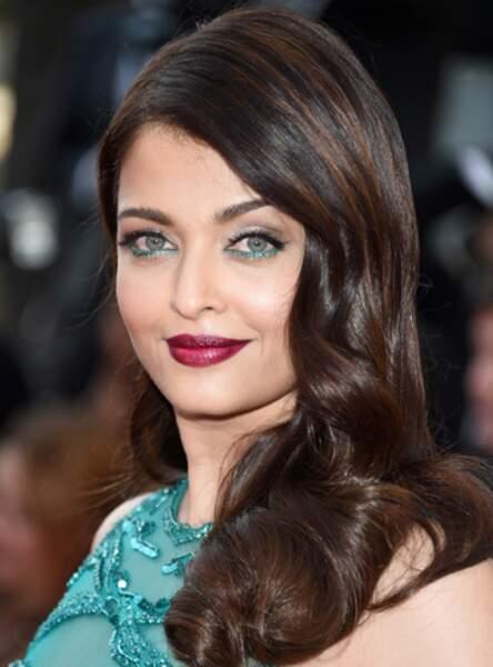 L'under liner turquoise comme Aishwarya Rai
