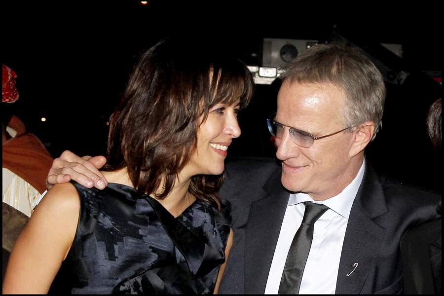 Sophie Marceau souriante avec Christophe Lambert au festival du film de Marrakech en 2010.