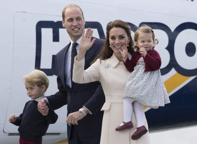 Le prince William et la duchesse de Cambridge accompagnés de leurs enfants