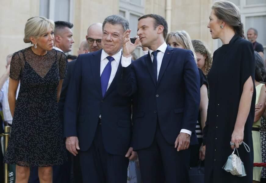 Le président Macron et son homologue colombien à l'Elysée