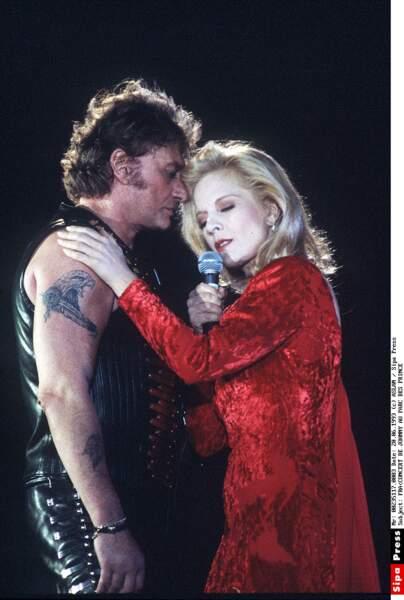 En duo, sur la scène du Parc des Princes le 18 juin 1993