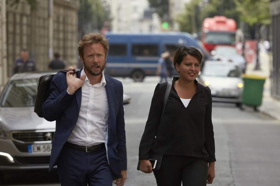 Najat Vallaud-Belkacem et son mari Boris Vallaud