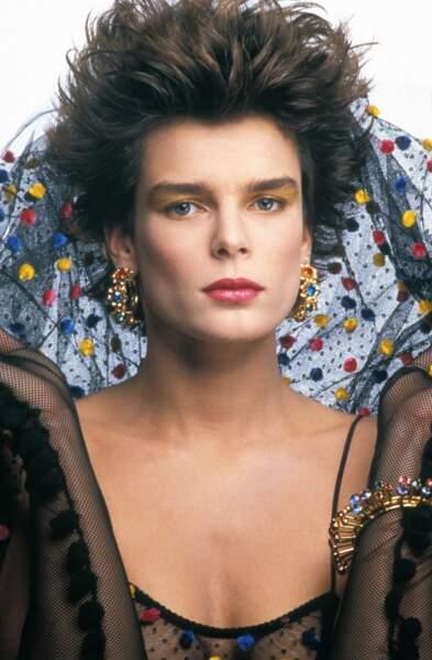 Portrait de la princesse Stéphanie de Monaco en mai 1988