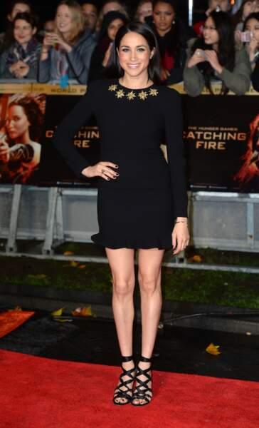 Meghan Markle à la première du film Hunger Games: l'Embrasement à Londres
