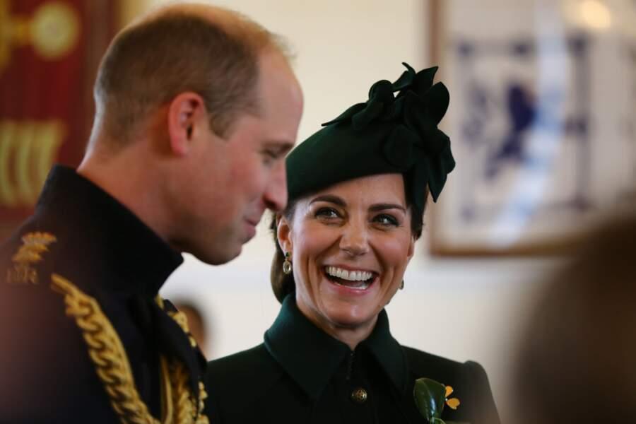 William et Kate, lors de la parade de la Saint-Patrick à Londres, le 17 mars 2019