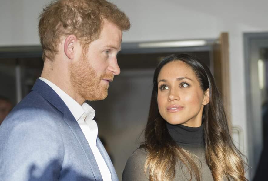 Meghan Markle et le prince Harry à Nottingham le 1er décembre 2017, première sortie depuis leurs fiançailles