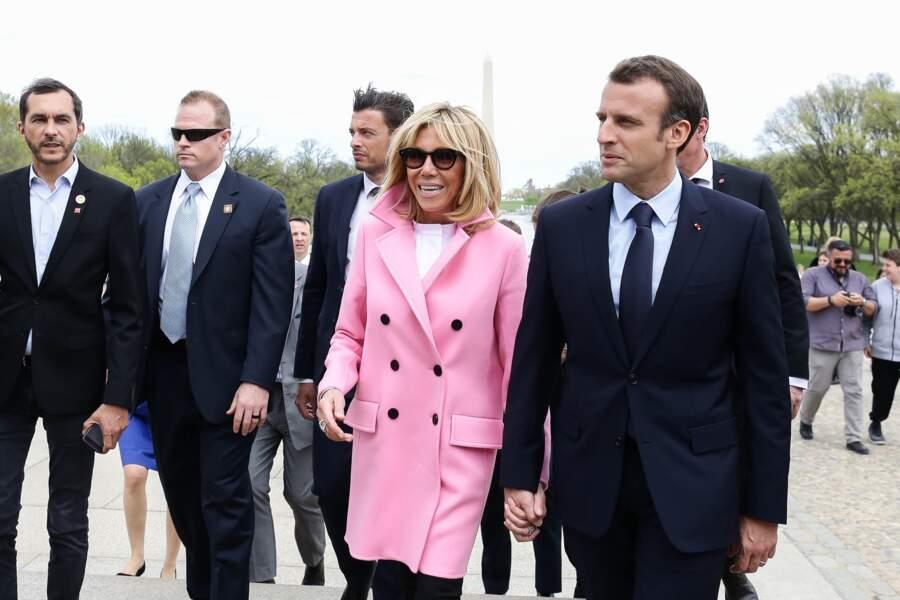 Brigitte Macron, en visite aux Etats-Unis le 23 avril 2018