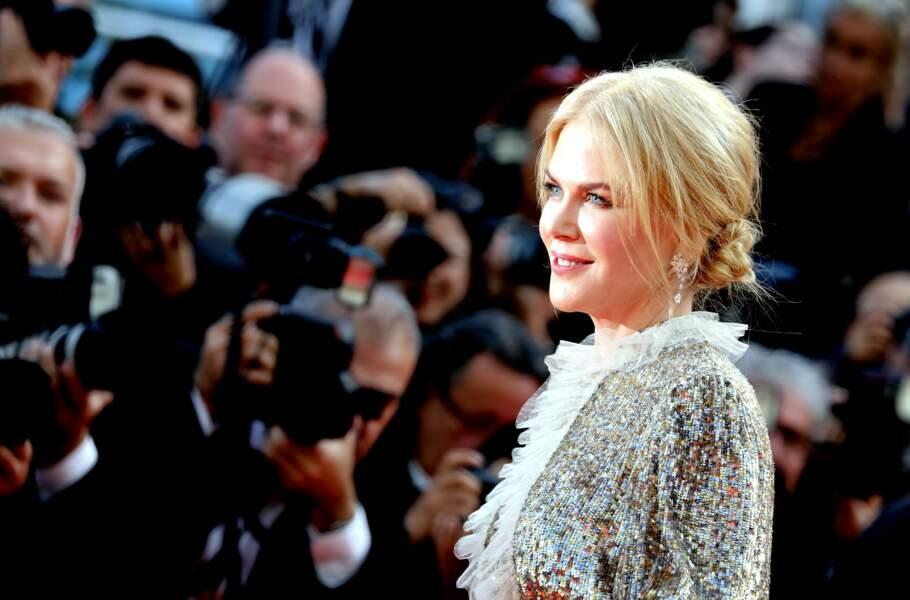 Nicole Kidman avec un chignon bas lâche