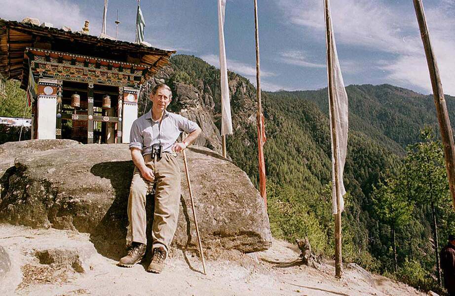 Le Prince Charles au monastère du Nid du Tigre en 1998 - Bhoutan - ABACA