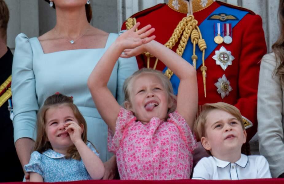 la princesse Charlotte, Savannah Phillips et le prince George, trois enfants épanouis