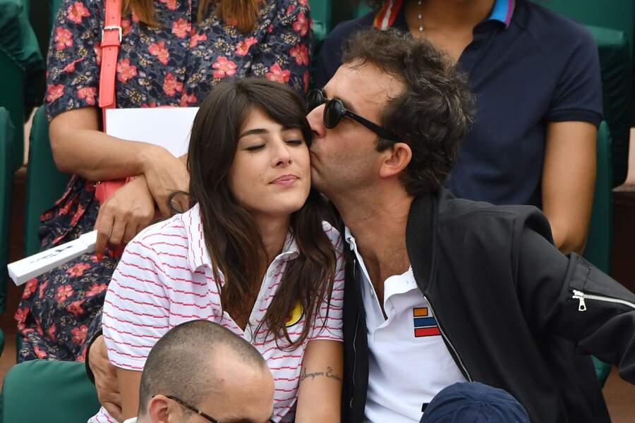 Cyrille Eldin et sa compagne Amélie, très complices en tribune, le 2 juin 2017