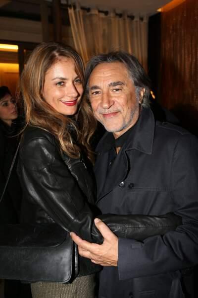 Richard Berry et sa compagne Pascale Louange à Paris en 2013