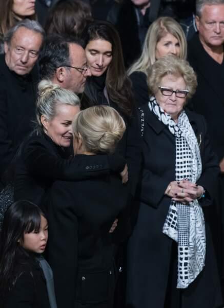 Mamie Rock à la cérémonie en hommage à Johnny Hallyday le 9 décembre 2017