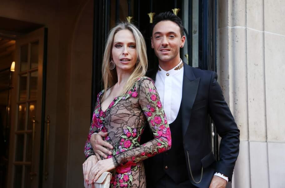 """Tonya Kinzinger et Maxime Dereymez assistent à la 9ème édition du """"Global Gift Gala"""" à Paris, le 25 avril 2018"""