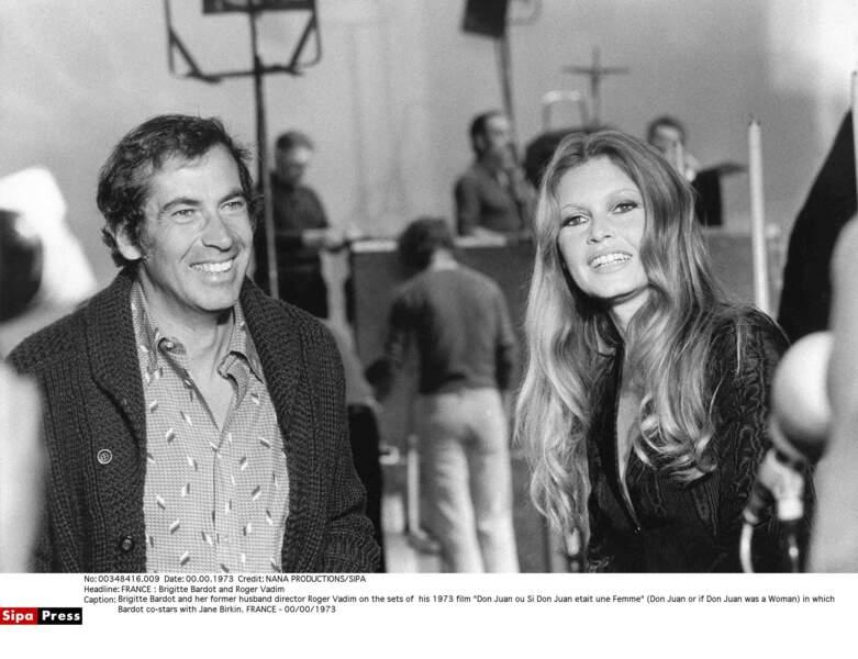 Brigitte Bardot and Roger Vadim (1973)