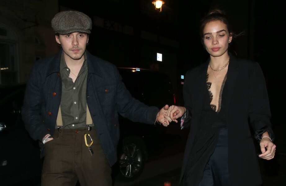 Brooklyn Beckham et Hana Cross arrivée à Mayfair, Londres, pour la soirée de The Love Magazine