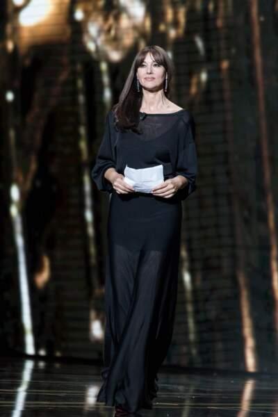 Monica Bellucci (54 ans), lors de la cérémonie des César, en février 2019