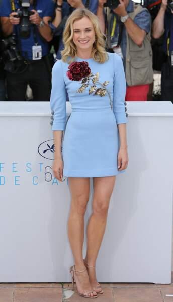 La ravissante Diane Kruger s'apprête à réjouir les photographes au festival de Cannes 2015.