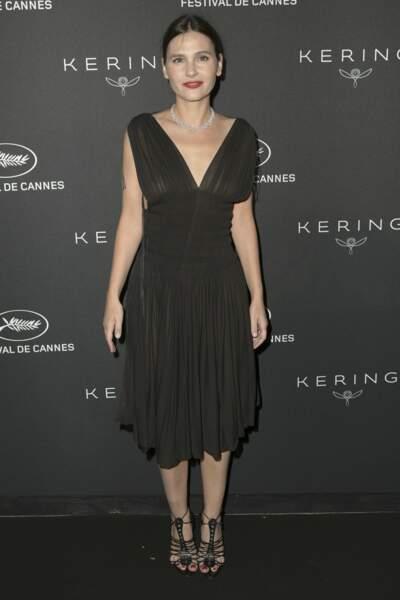 Virginie Ledoyen en robe transparente