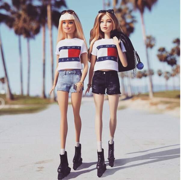 Gigi Hadid a maintenant sa propre poupée Barbie, habillée en Tommy Hilfiger