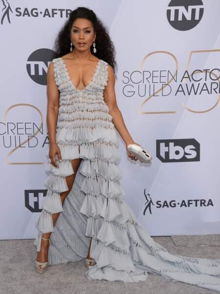 Angela Bassett (60 ans) lors de la cérémonie des SAG Awards à Los Angeles, en janvier 2019