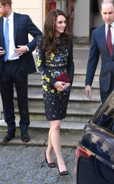 Kate Middleton à l'Institut des Arts Contemporains de Londres, le 17 janvier 2017