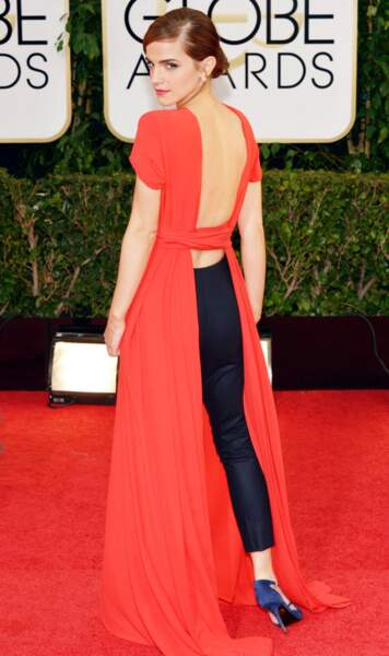 En 2014, Emma Watson en Dior, ose aussi l'ensemble dos-nu