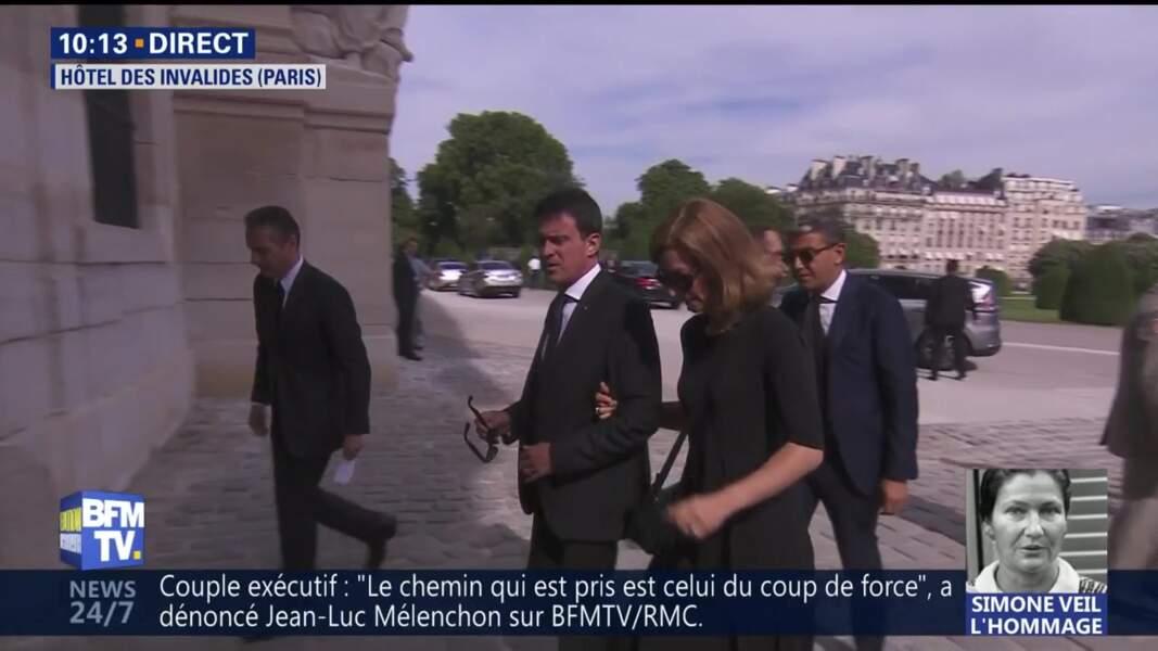 Obsèques de Simone Veil : Manuel Valls et son épouse Anne Gravoin