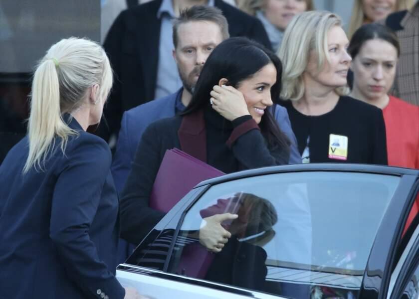 Meghan Markle, enceinte, sa première apparition avec le prince Harry depuis l'annonce de sa grossesse