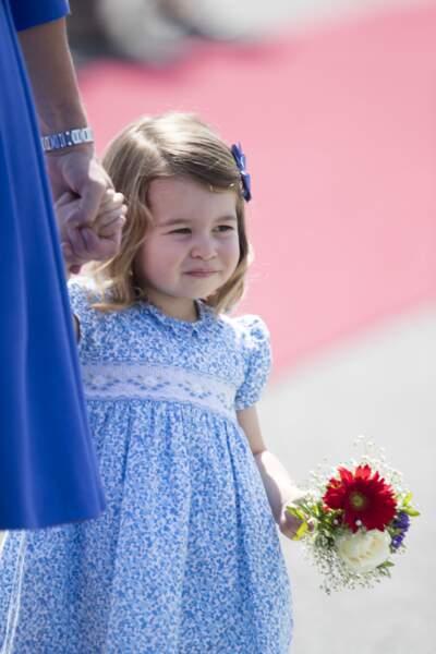 La princesse Charlotte à l'aéroport de Berlin le 19 juillet 2017.