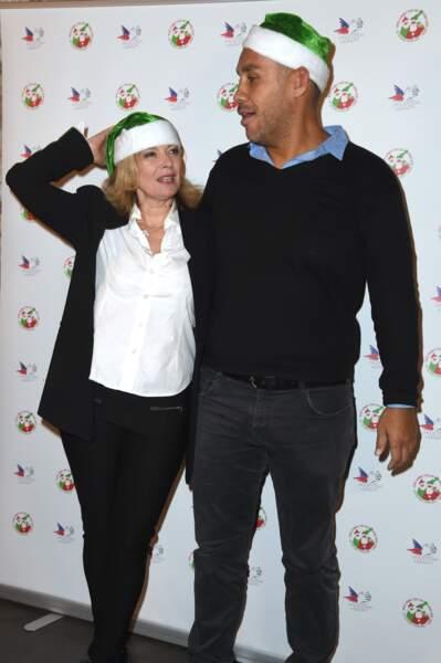 Valérie Trierweiler et Romain Magellan, en père et mère Noël