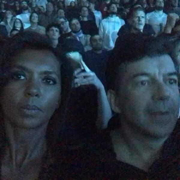 Karine Le Marchand et Stéphane Plaza au concert du groupe NTM à Paris en mai 2018