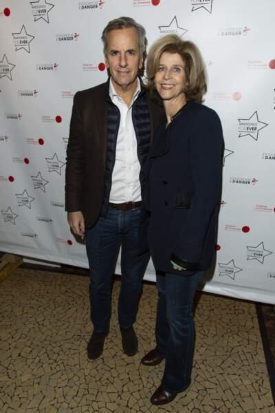 Bernard de La Villardière et sa femme Anne à Paris en novembre 2018