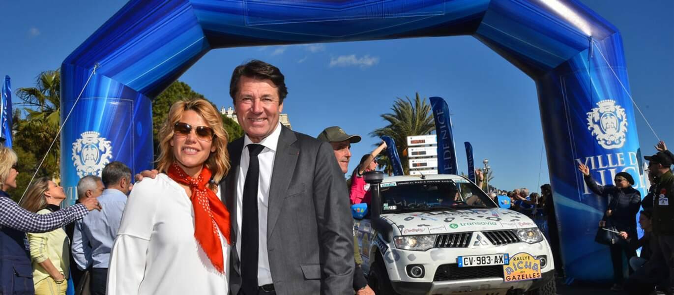 Au 28e départ du Grand Prix des Gazelles, à Nice, le couple était présent, sur la Promenade des Anglais