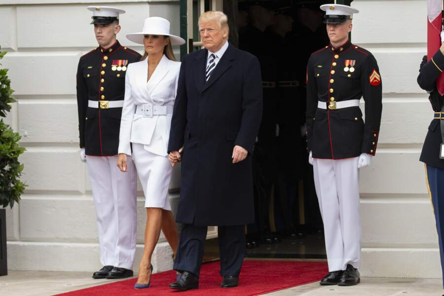 Melania et Donald Trump à la Maison Blanche ce mardi 24 avril