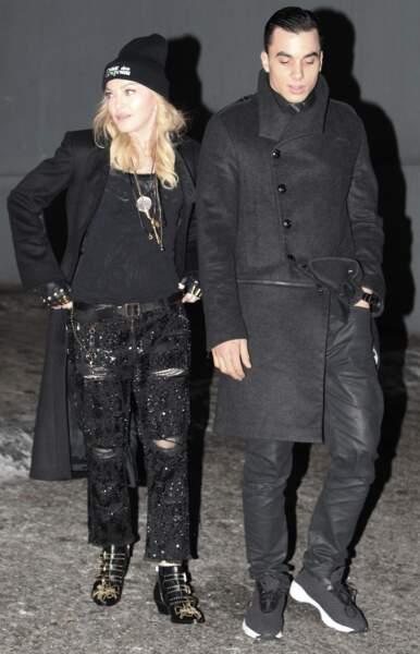 Madonna et Timor Steffens en 2014 à Beverly Hills