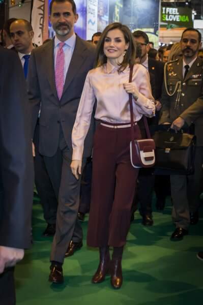 Le Roi Felipe VI et la Reine Letizia au Salon International à Madrid le 18 janvier 2017
