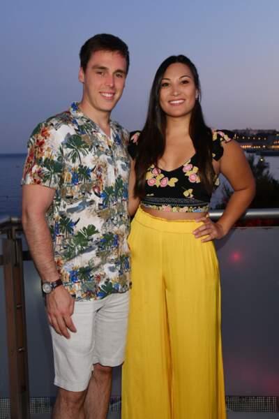 Louis Ducruet et Marie Chevallier, sa future épouse âgés de 25 ans à Monaco le 13 juillet 2019