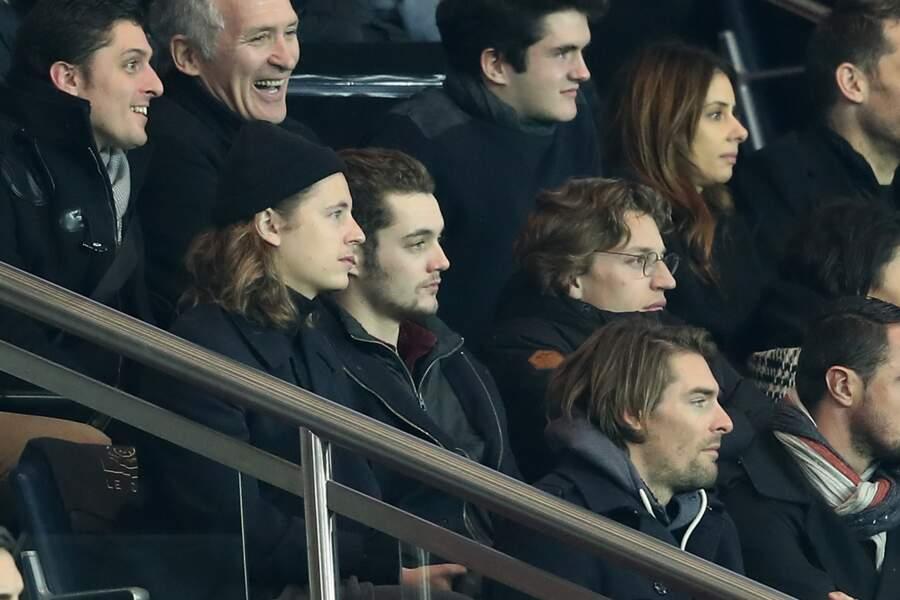 Louis Sarkozy assiste au match du Paris Saint-Germain contre Toulouse FC au parc des Princes à Paris