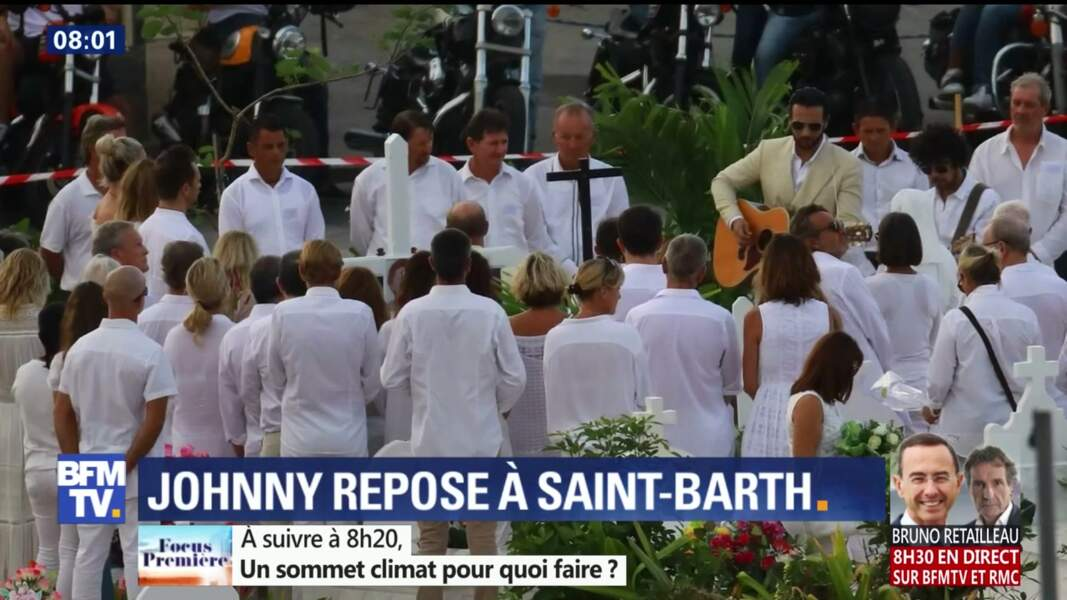 Obsèques de Johnny Hallyday à St Barth : les invités en blanc