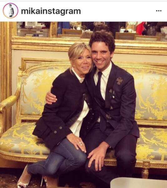 Brigitte Macron et Mika